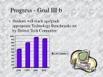 progress goal iii b