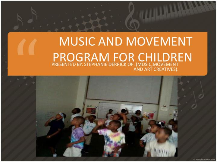 music and movement program for children n.