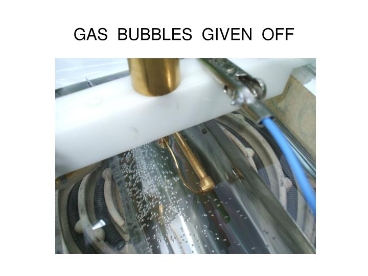 GAS  BUBBLES  GIVEN  OFF