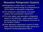 absorption refrigeration systems