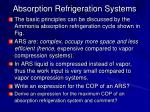 absorption refrigeration systems1