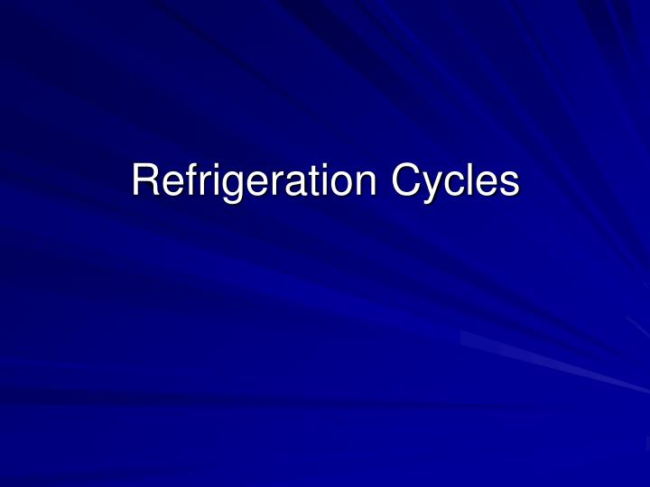 refrigeration cycles n.