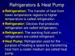 refrigerators heat pump