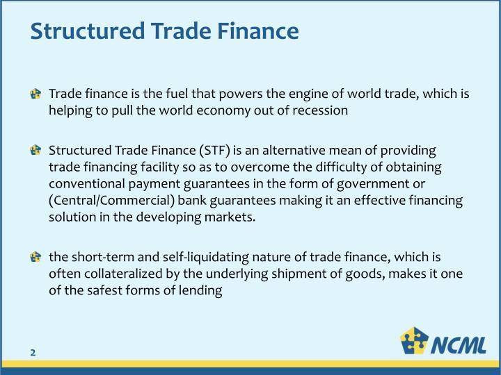 Self liquidating trade finance