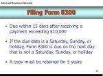 filing form 8300
