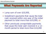 what payments are reported