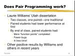 does pair programming work