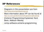 xp references