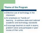 theme of the program