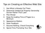 tips on creating an effective web site