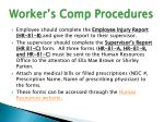 worker s comp procedures