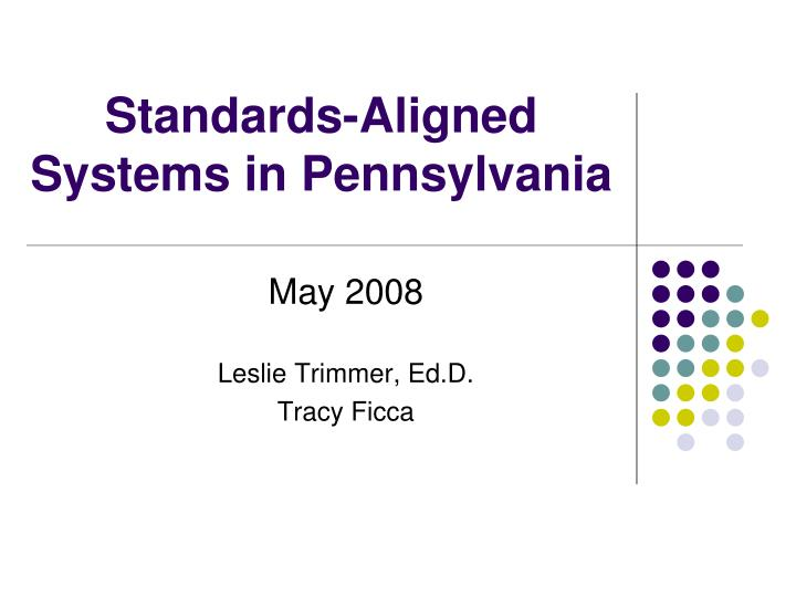 standards aligned systems in pennsylvania n.