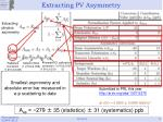 extracting pv asymmetry