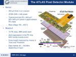 the atlas pixel detector module