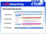 key learning facets