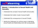 module 1 introduction to sexual health and sexuality