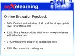 on line evaluation feedback