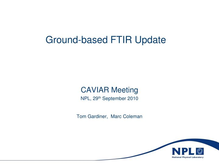 ground based ftir update n.