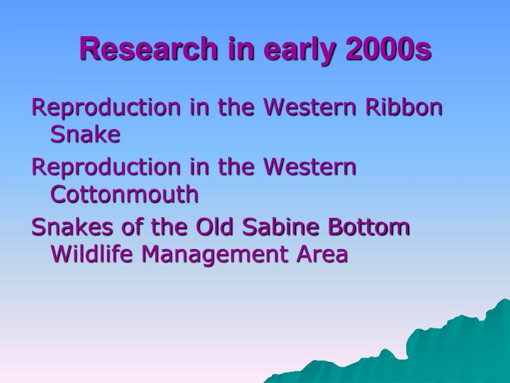 Research in early 2000s