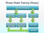 phrase model training moses