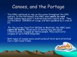 canoes and the portage