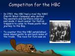 competiton for the hbc