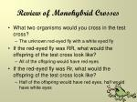 review of monohybrid crosses2