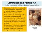 commercial and political art art has been used in political and commercial campaigns