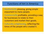 functions of art in america