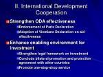ii international development cooperation