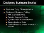 designing business entities