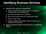 identifying business services