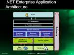 net enterprise application architecture