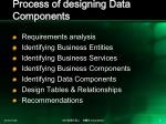 process of designing data components