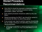 stored procedure recommendations