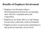 benefits of employee involvement1