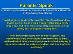 parents speak