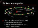 broken return paths