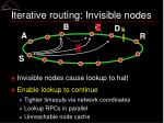 iterative routing invisible nodes1
