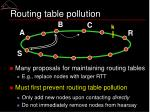 routing table pollution
