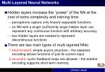 multi layered neural networks1