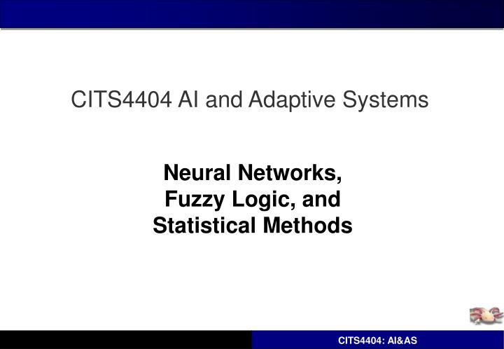 neural networks fuzzy logic and statistical methods n.