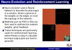 neuro evolution and reinforcement learning