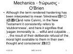 mechanics o brien
