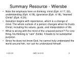 summary resource wiersbe