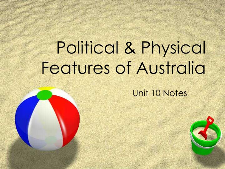 political physical features of australia n.