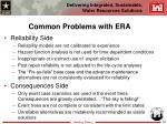 common problems with era