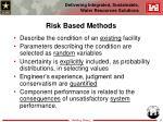 risk based methods