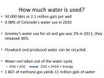 how much water is used