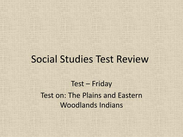 social studies test review n.